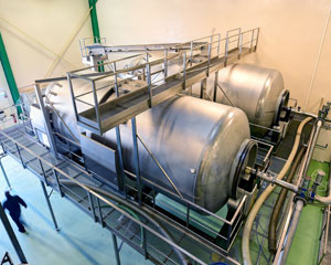 Pera Pellenc, winemaking equipment: winemaking process
