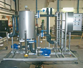 Tailor-made thermal process - alcohol de-icing skid