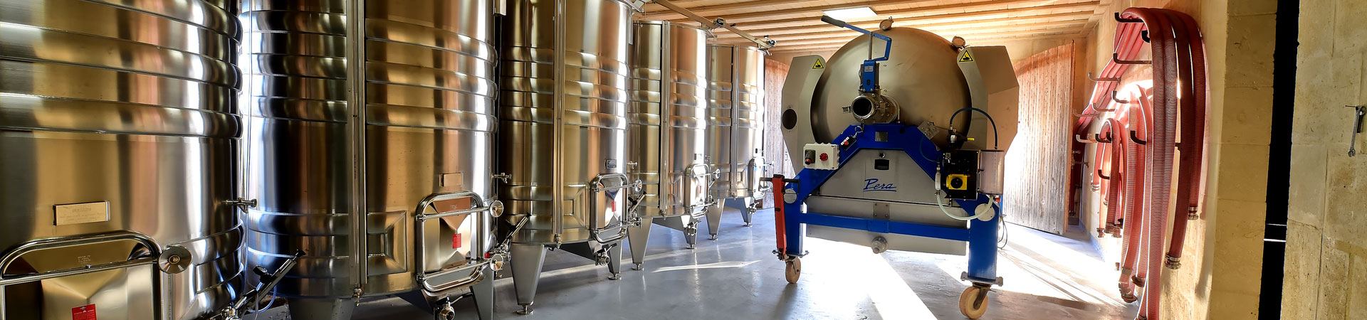 Pera Pellenc, winemaking equipment: press manufacturer