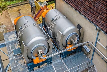 Vanne pneumatique du pressoir pneumatique Smart Press de Pera Pellenc, matériel vinicole